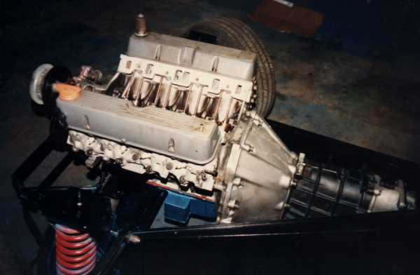Original V8 in chassis